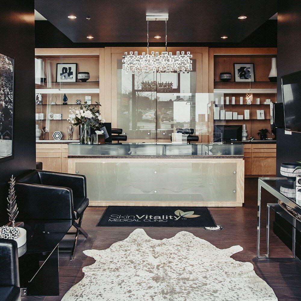Skin Vitality Ajax Reception Area
